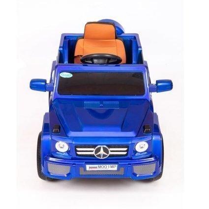 Электромобиль Мерседес Гелик М001МР NEW синий (колеса резина, кресло кожа, пульт, музыка)