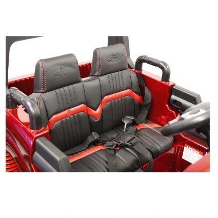Электромобиль Ford Ranger MONSTER TRUCK 4WD DK-MT550 белый (2х местный, колеса резина, кресло кожа, пульт, музыка)